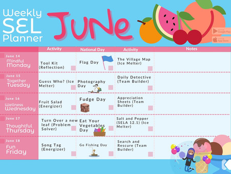 Kikori's June Week 3 Printable Planner is here just for you!