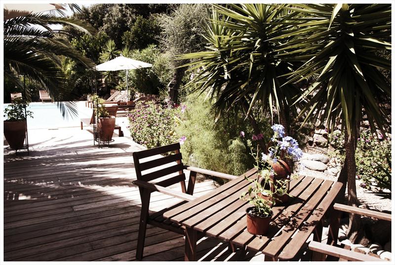 Piscine coin terrasse