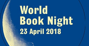"WORLD BOOK NIGHT: ""keep reading & give books"""