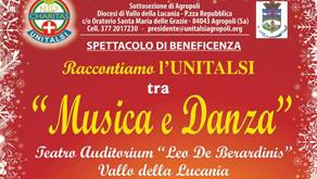 """""""Raccontiamo l'UNITALSI tra Musica e Danza"""": spettacolo di beneficenza"""