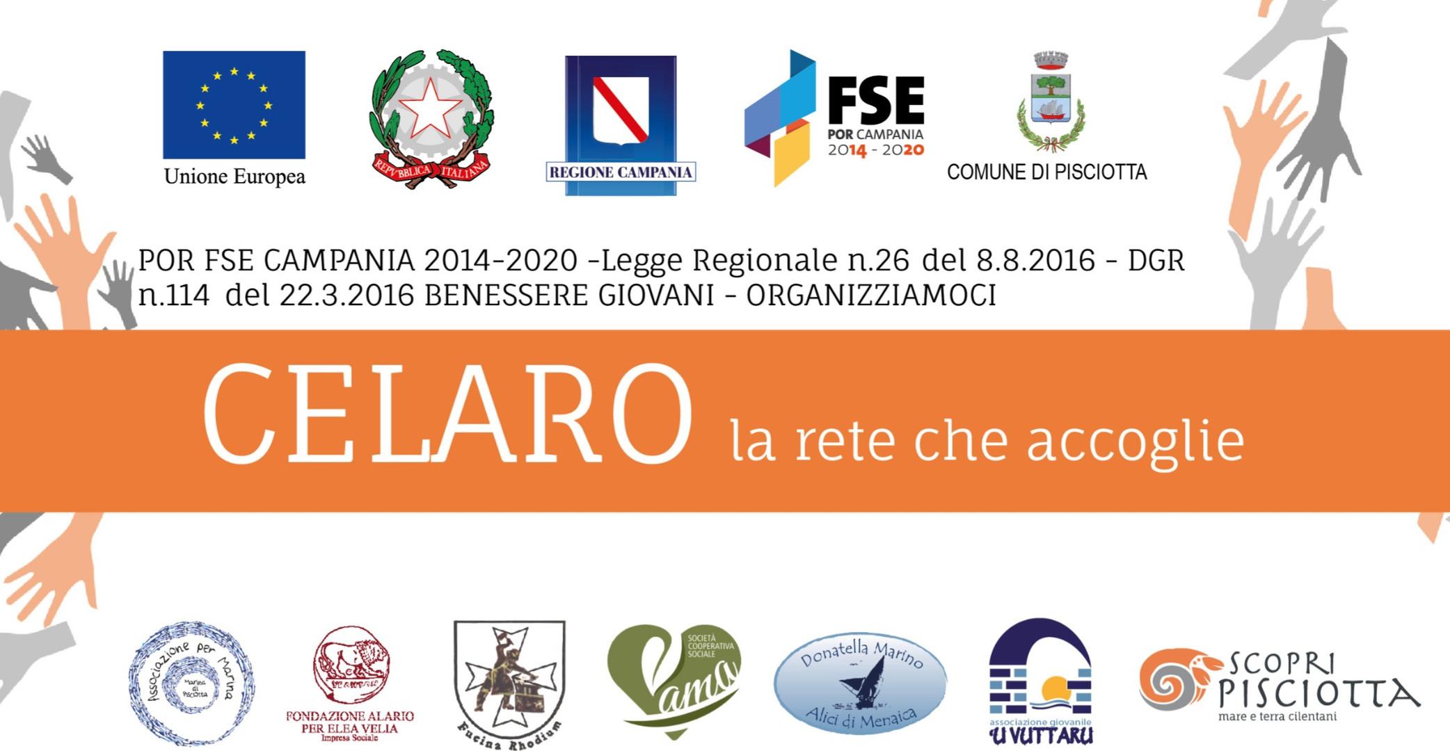 """Benessere Giovani Pisciotta: prorogati i termini per partecipare al progetto """"Celaro"""" 6 Mar 2019"""