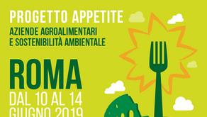 PROGETTO APPETITE: Aziende agroalimentari e sostenibilità aziendale | Roma 10-14 giugno 2019