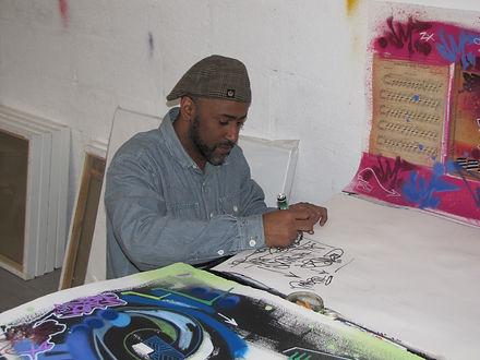 Toxic dans son atelier. Le 7 mars 2011.j