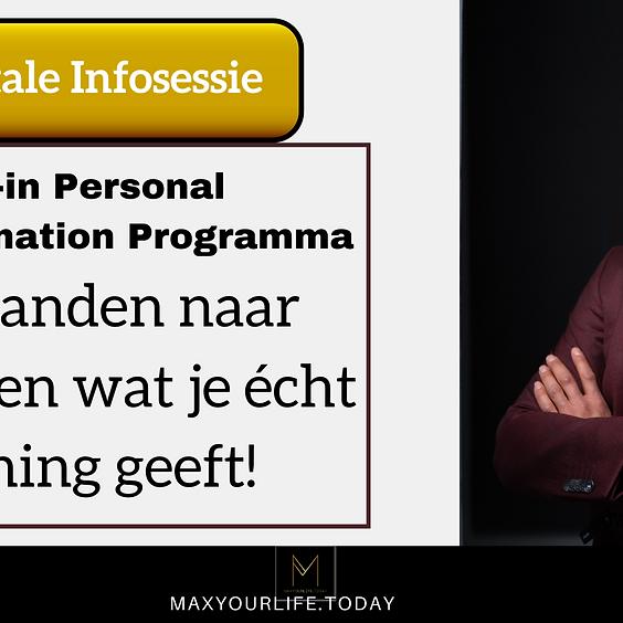 Info-sessie - In 6 maanden richting een leven waar je écht voldoening uit haalt.