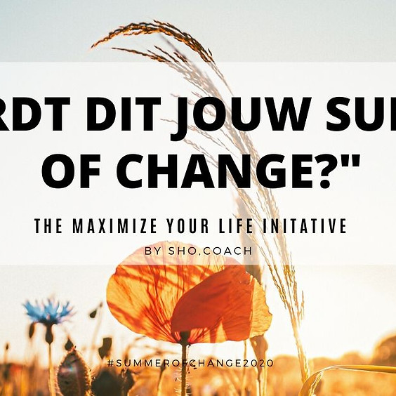 Summer of Change - Pre-Launch info-sessie