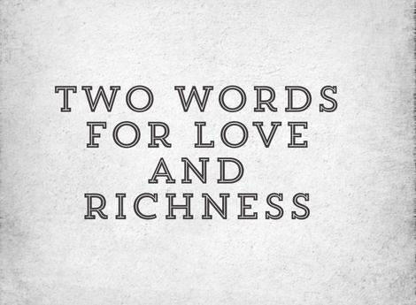 The law of money and love
