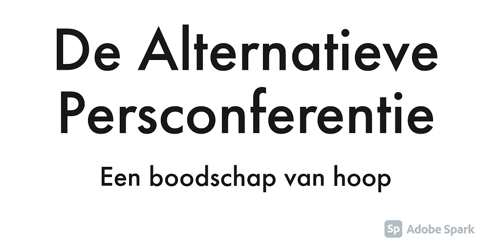 De alternatieve persconferentie