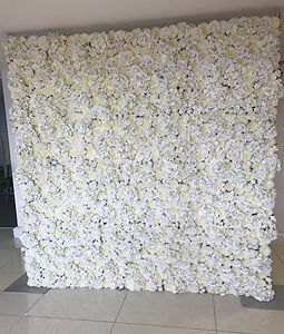 Classic Ivory Flower Wall Set Up 8ft by