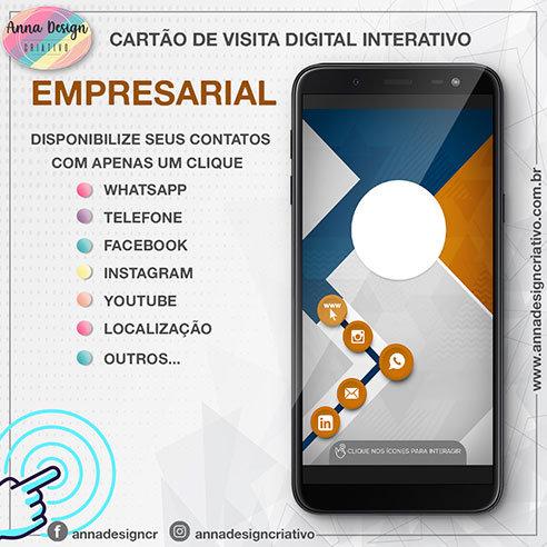 Cartão de visita digital interativo - Empresarial 01