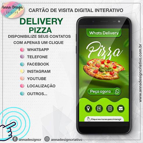 Cartão de visita digital interativo - Delivery pizza 01