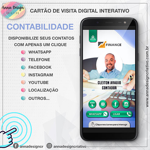 Cartão de visita digital interativo - Contabilidade 01