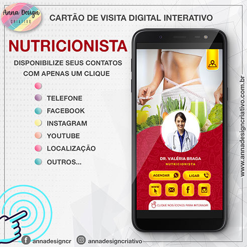 Cartão de visita digital interativo - Nutricionista 01