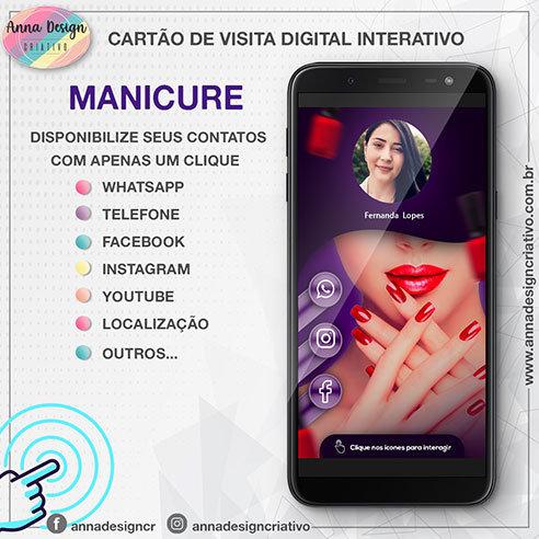 Cartão de visita digital interativo - Manicure 01