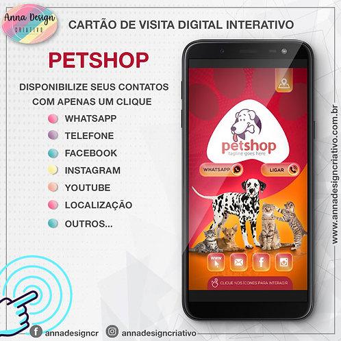 Cartão de visita digital interativo - Petshop 01