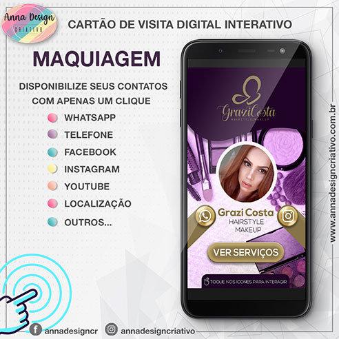 Cartão de visita digital interativo - Maquiagem 01