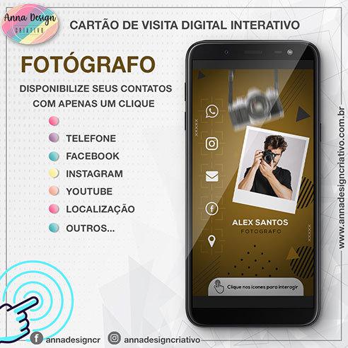 Cartão de visita digital interativo - Fotógrafo 01