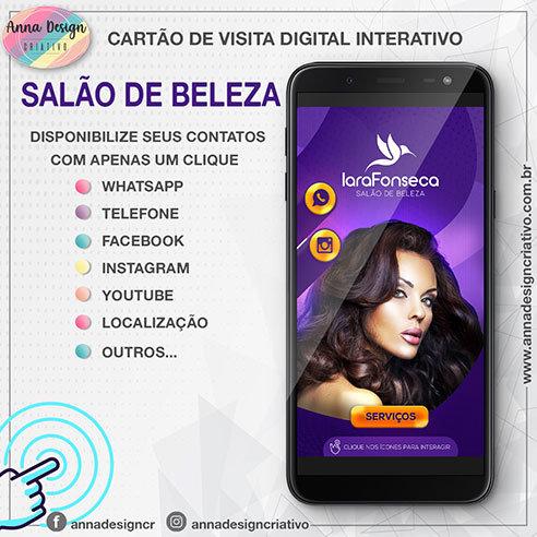 Cartão de visita digital interativo - Salão de beleza 01