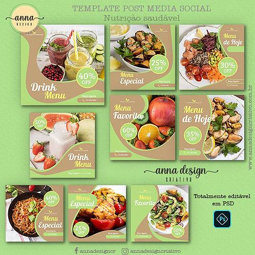 Templates post mídias sociais - Nutrição saudável 01