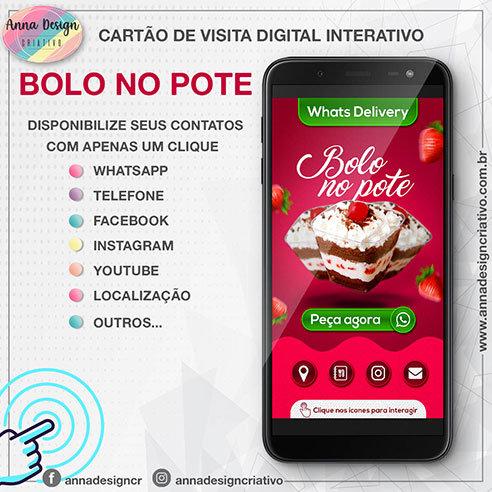 Cartão de visita digital interativo - Delivery bolo no pote 01