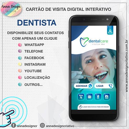 Cartão de visita digital interativo - Dentista 01