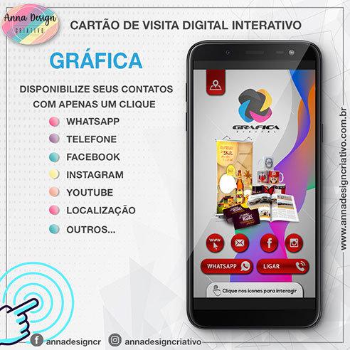 Cartão de visita digital interativo - Gráfica 01