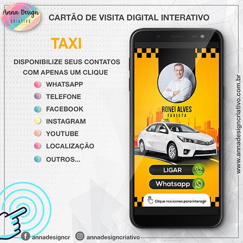 Cartão de visita digital interativo - Taxi 01