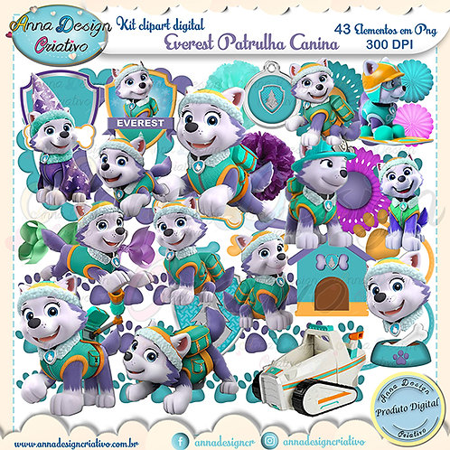 Kit clipart digital Everest Patrulha canina