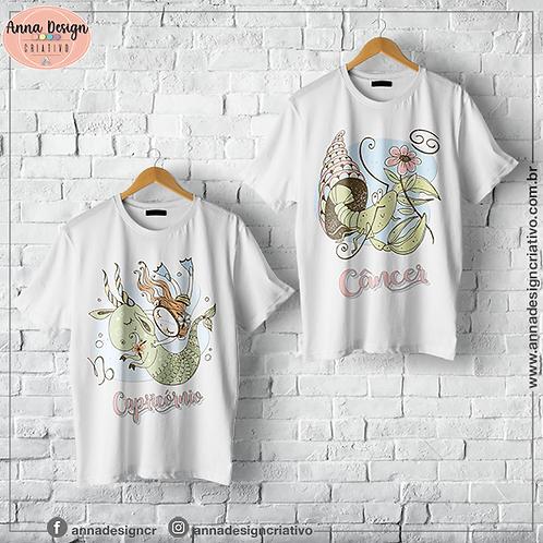 Coleção signos cute clean 1 - Camisas sublimação