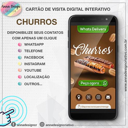 Cartão de visita digital interativo - Churros 01