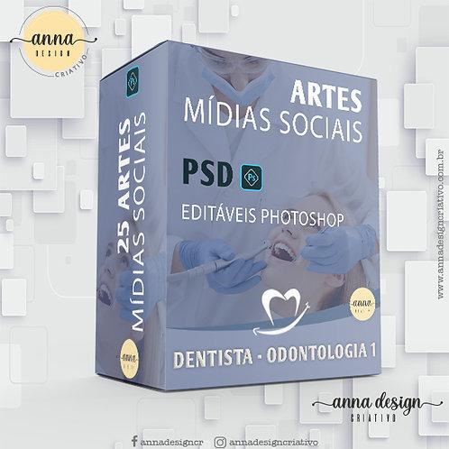Pack artes mídias sociais - Dentista 1