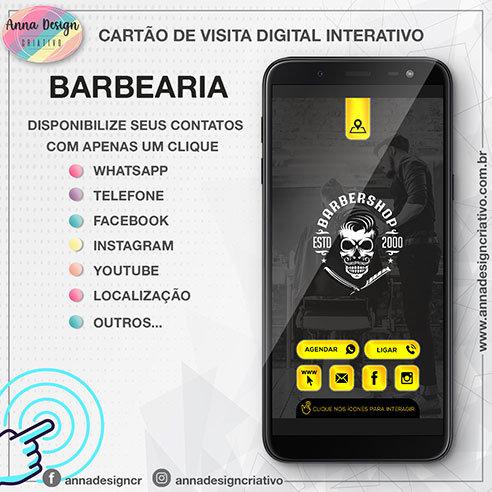 Cartão de visita digital interativo - Barbearia 01