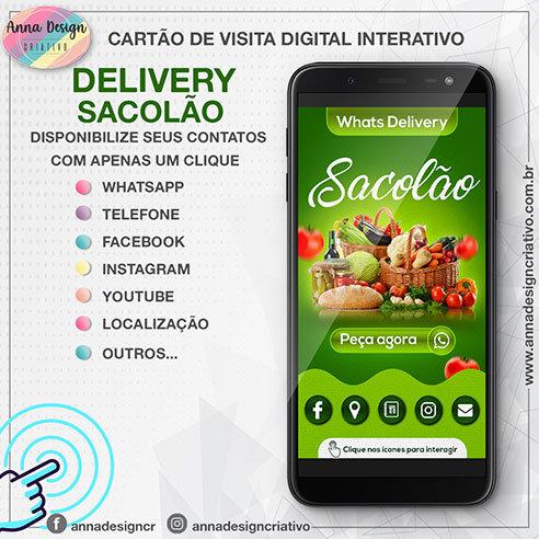 Cartão de visita digital interativo - Delivery sacolão 01