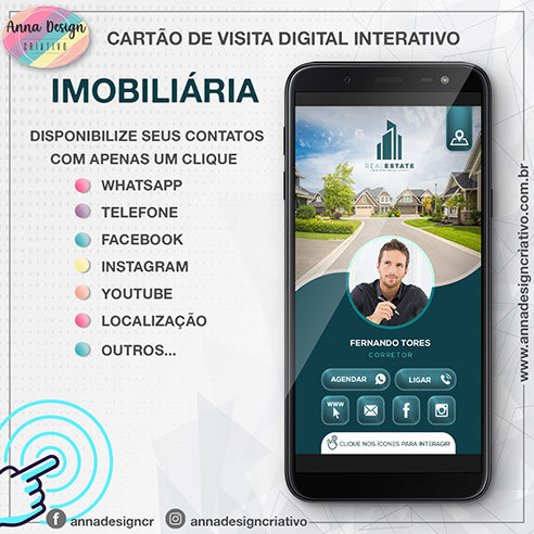 Cartão de visita digital interativo - Imobiliária 01