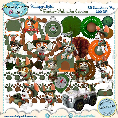 Kit clipart digital Tracker Patrulha canina