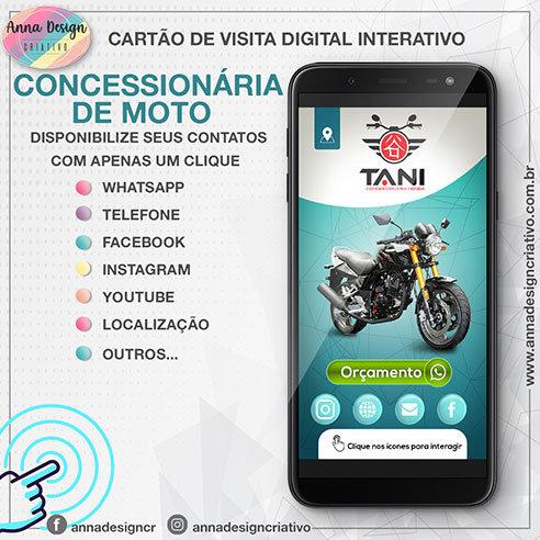 Cartão de visita digital interativo - Concessionária de motos 01