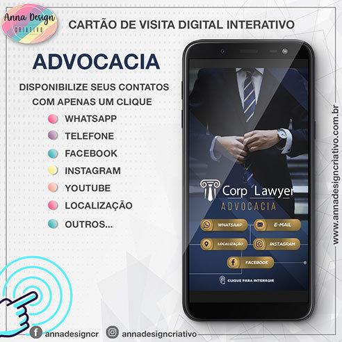 Cartão de visita digital interativo - Advocacia 01