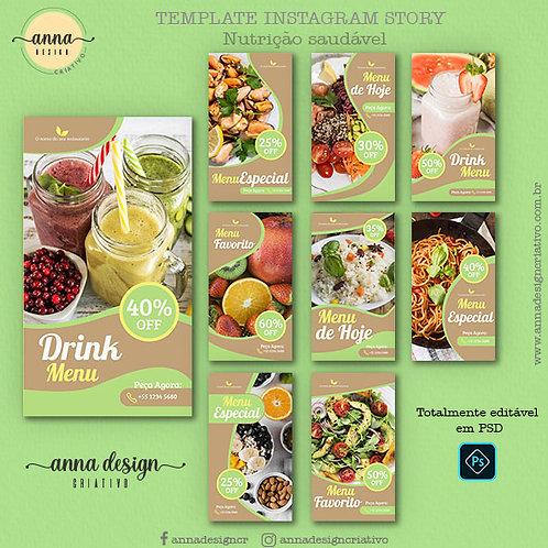 Templates instagram story - Nutrição saudável 01