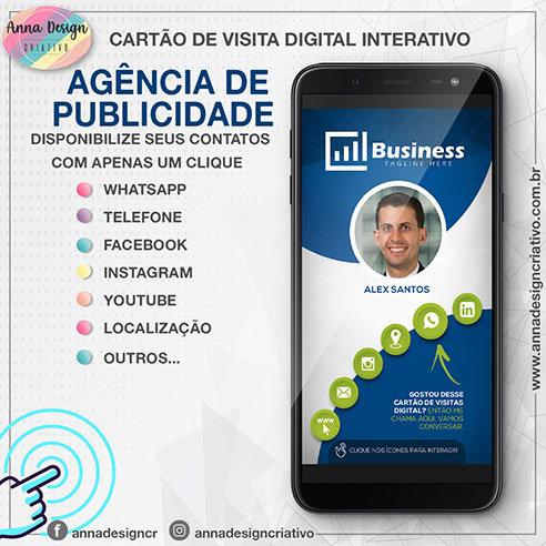 Cartão de visita digital interativo - Agência de publicidade 01