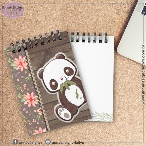 Bloquinho Panda 02 - Cartonado Tamanho A6
