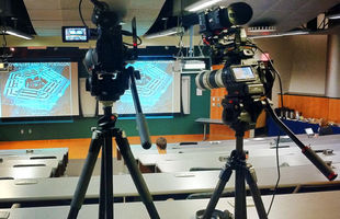 Two camera lecture shoot
