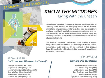 SAVE THE DATE! Know Thy Microbes Seminar With HKU-Pasteur