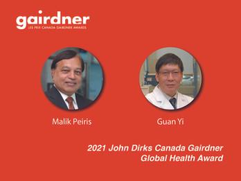 Malik Peiris Awarded With The Prestigious John Dirks Canada Gairdner Global Health Award