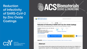 Reduction of Infectivity of SARS-CoV-2 by Zinc Oxide Coatings