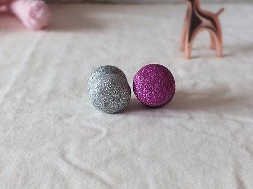 Wooden Glitter Drawer Knobs x 2