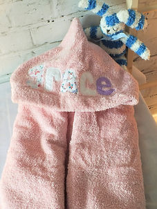 personalised hooded towels childrens bedrooms in bucks