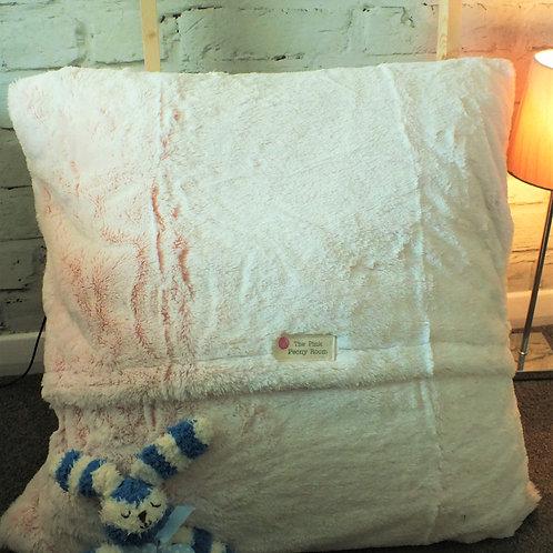 Pink Faux Fur Floor Cushion