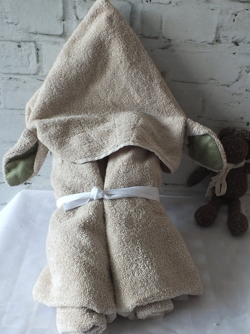 Childs Cotton 'Yoda' Hooded Towel