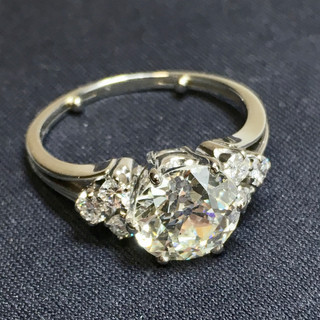 Platina ring Diamant 1950