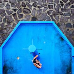 La douche bleue