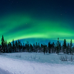 Laponie - Panoramique aurore boréale